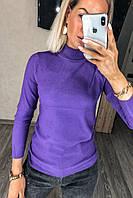 Жіноча Водолазка-Гольф Базова, під горло Фіолетовий, фото 1