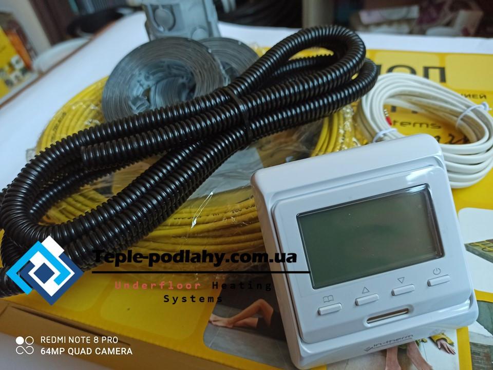 Резистивний екранований кабель In-term Чехія для обігріву підлоги, 13,9 м. кв (+ Подарунок )