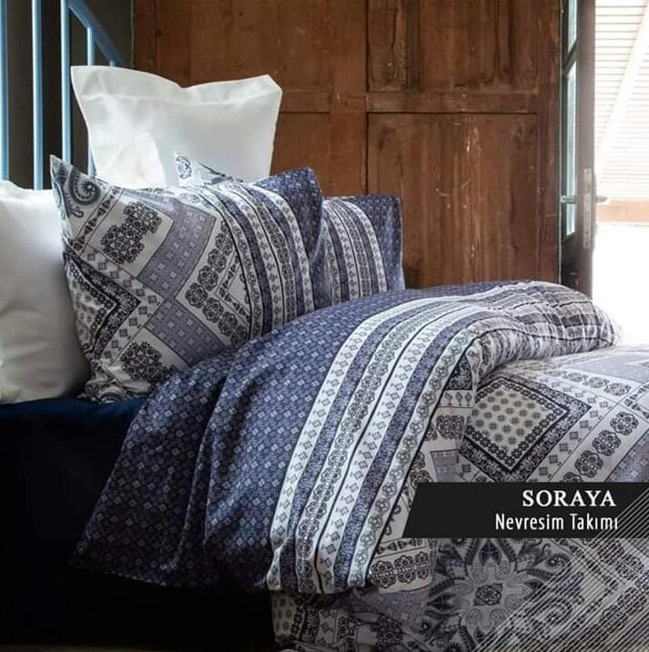 Постельное белье ранфорс семья Soraya ISSIMO HOME