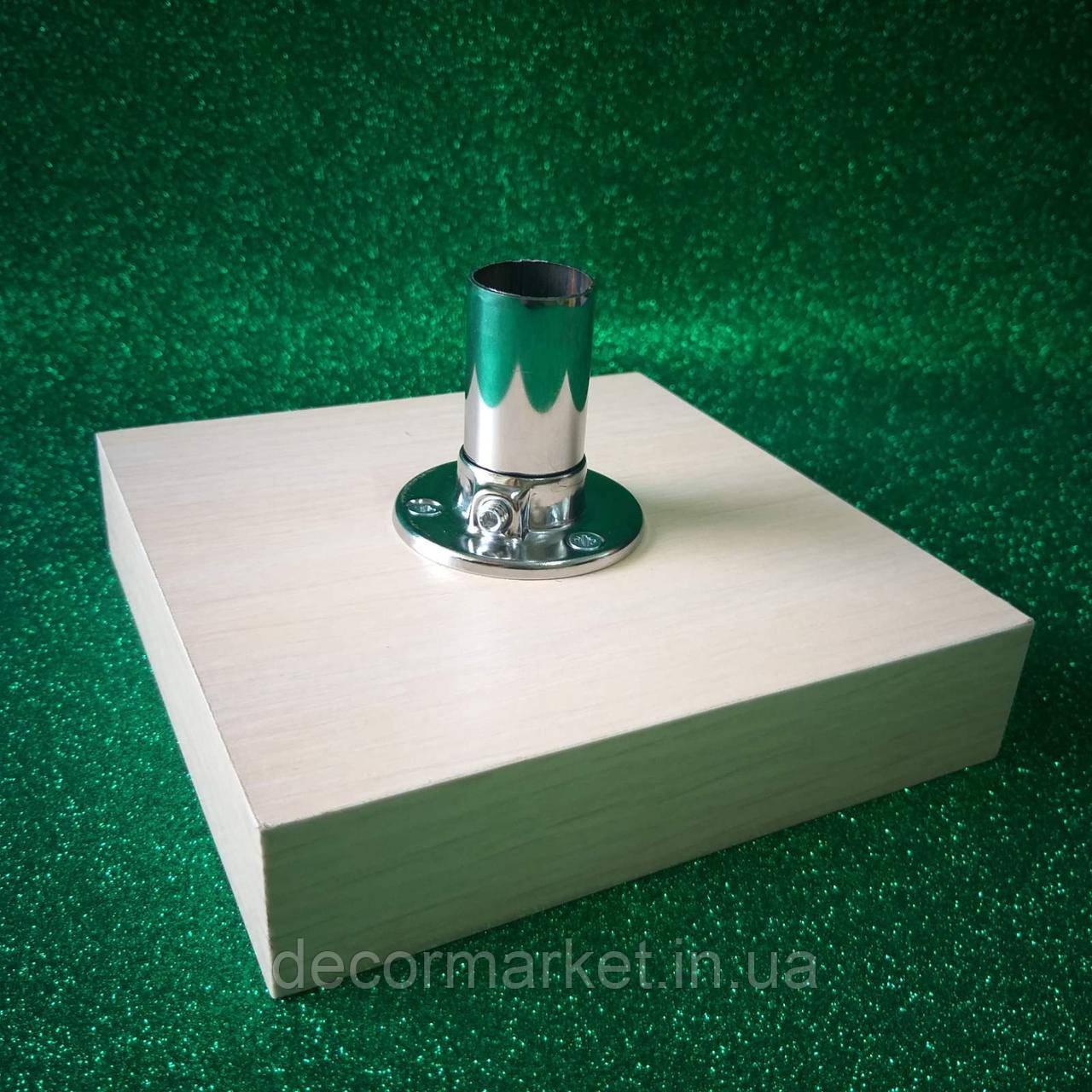 Подставка для светильников 15х15/16 молочный дуб ДСП