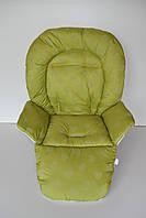 Чохол до стільчика для годування Capella, Bambi, ABC Design сердечка на зеленому, фото 1