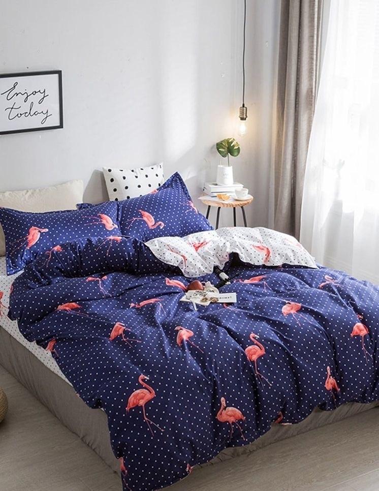 Семейный набор постельного белья бязь «Фламинго»