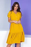 Женское платье свободного кроя желтое Арт. 403