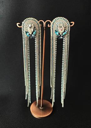 Серьги на выпускной Ksenija Vitali Blue zircon SB-00016, фото 2