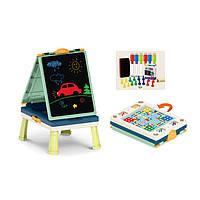 Детский мольберт 050-17 лёгкий складной удобный для переноски и рисования