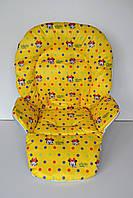 Чехол к стульчику для кормления Capella, Bambi, ABC Design Минни Маус на желтом, фото 1