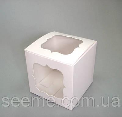 Коробка с окошком 150х150х150 мм.