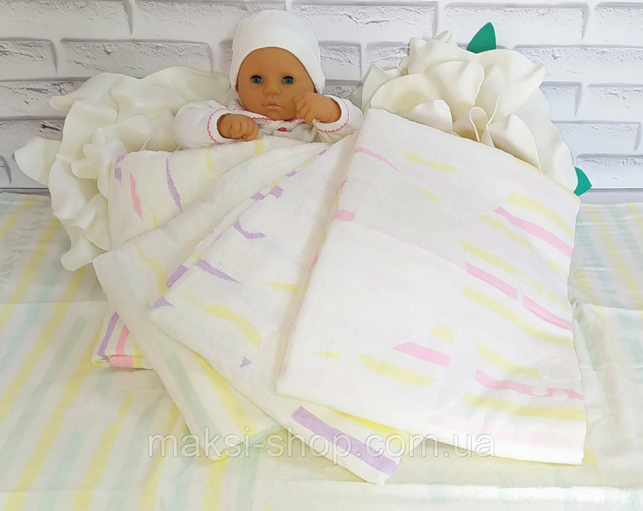 Детское стеганое одеяло плед простынь 110*110 лен