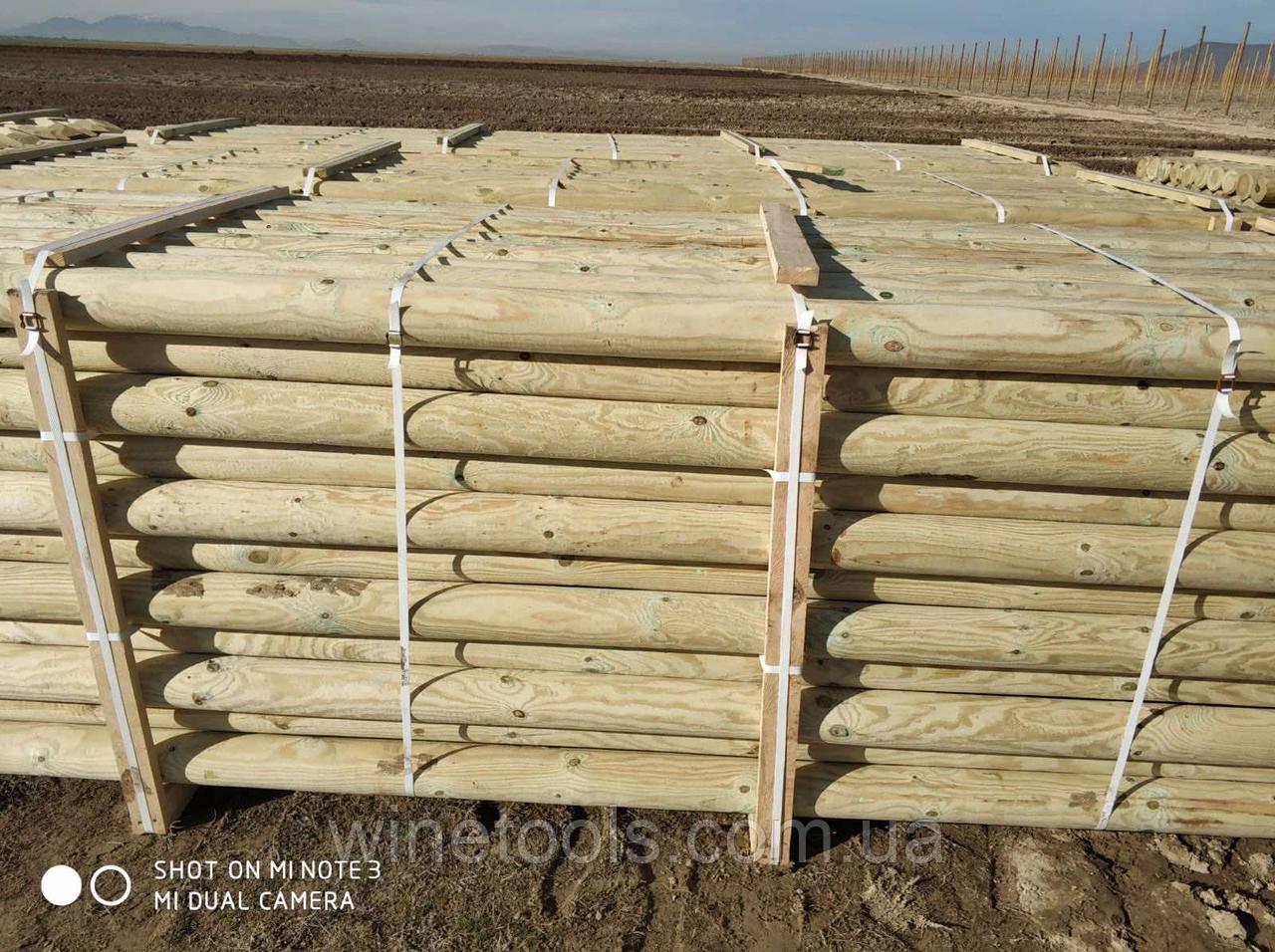 Стовпи шпалерні дерев'яні 140х4700