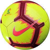 Мяч футбольный испанской Ла Лиги Найк размер 5 Nike La Liga Pitch Полиуретан Желтый (ЛФ SC3318-702-5)