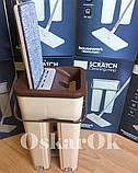 Швабра з відром з автоматичним віджимом Тріумф   Комплект для прибирання Диво-швабра і відро з віджимом, фото 8