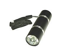 Ліхтарик світлодіодний алюмінієвий, 1W 3*ААА, чорний, Vipow  URZ0902