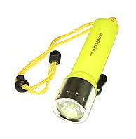 Ліхтарик світлодіодний для дайвінгу, 3W, підводний IP67, 4*AA