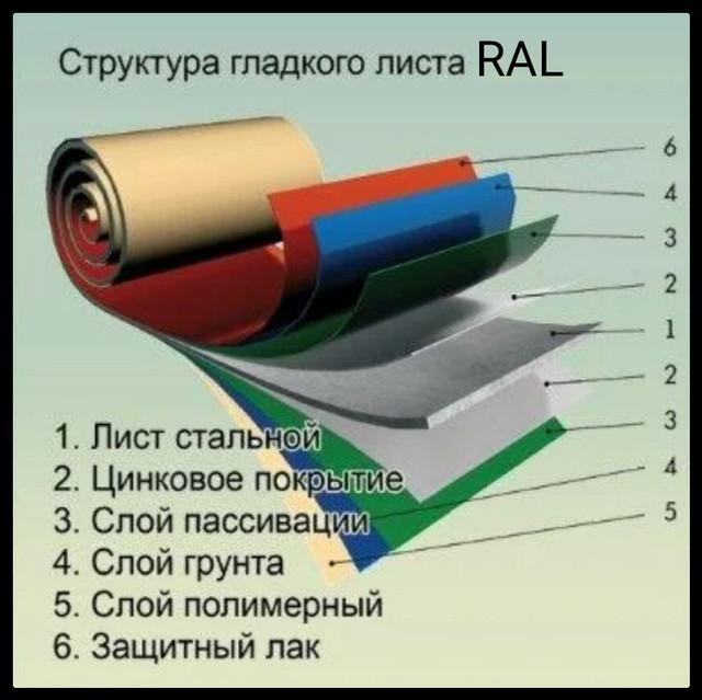 struktura-gladkogo-lista-s-polimernim-pokritiem