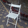 Складной деревянный стул белого цвета/Туристический стул складной/Деревянный стул раскладной/Садовый стул