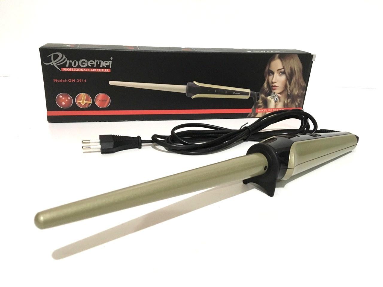 Профессиональная конусная плойка для волос Gemei GM-2914