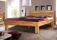 Ліжко дерев'яне дубове односпальне Шампань 900 * 2000