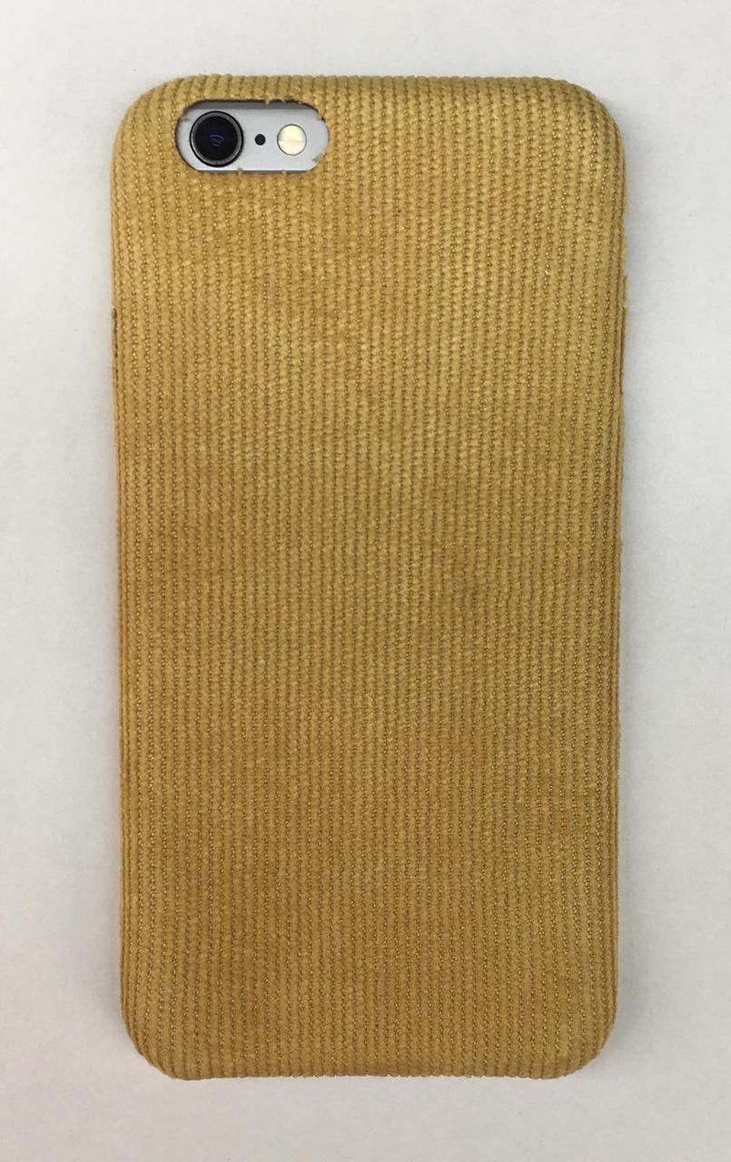 Чехол вельветовый iPhone 6 / 6S Желтый
