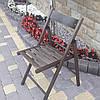 Складной деревянный стул коричневого  цвета ОПТОМ /Туристический стул складной/Деревянный стул раскладной