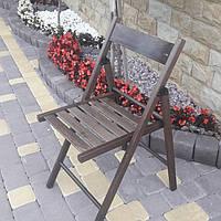 Складной деревянный стул коричневого  цвета ОПТОМ /Туристический стул складной/Деревянный стул раскладной, фото 1
