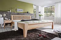 Ліжко дерев'яне дубове полуторне Корсика 1400 * 2000