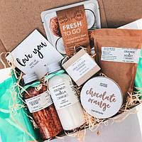 Косметический кокосово-шоколадный подарок, подарочный набор для ванны и тела для девушки / женщины