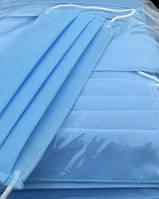 Маска захисна тришарова, синя