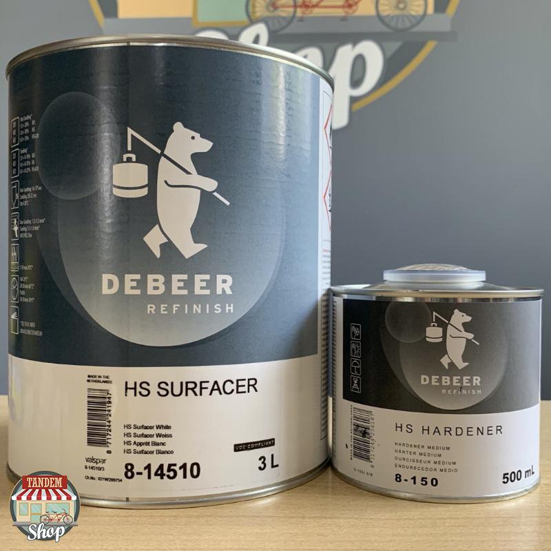 Грунт-наполнитель полиуретановый De Beer Surfacer 8-145 6:1 HS, 3 л + 500 мл Комплект