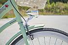 Велосипед женский городской VANESSA 26 mint с корзиной Польша, фото 6