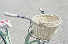 Велосипед женский городской VANESSA 26 mint с корзиной Польша, фото 8