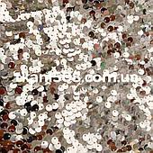 Пайеточная ткань( Круглая ) Серебро