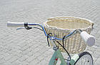 Велосипед женский городской VANESSA 26 mint с корзиной Польша, фото 9