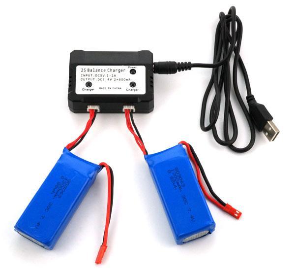 Зарядное устройство для аккумуляторов квадрокоптера, дрона 7.4В