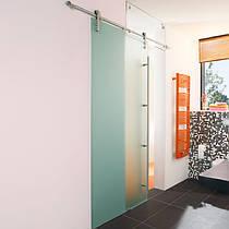Дверь раздвижная 800 х 2100 мм из закаленного стекла прозрачного 10 мм