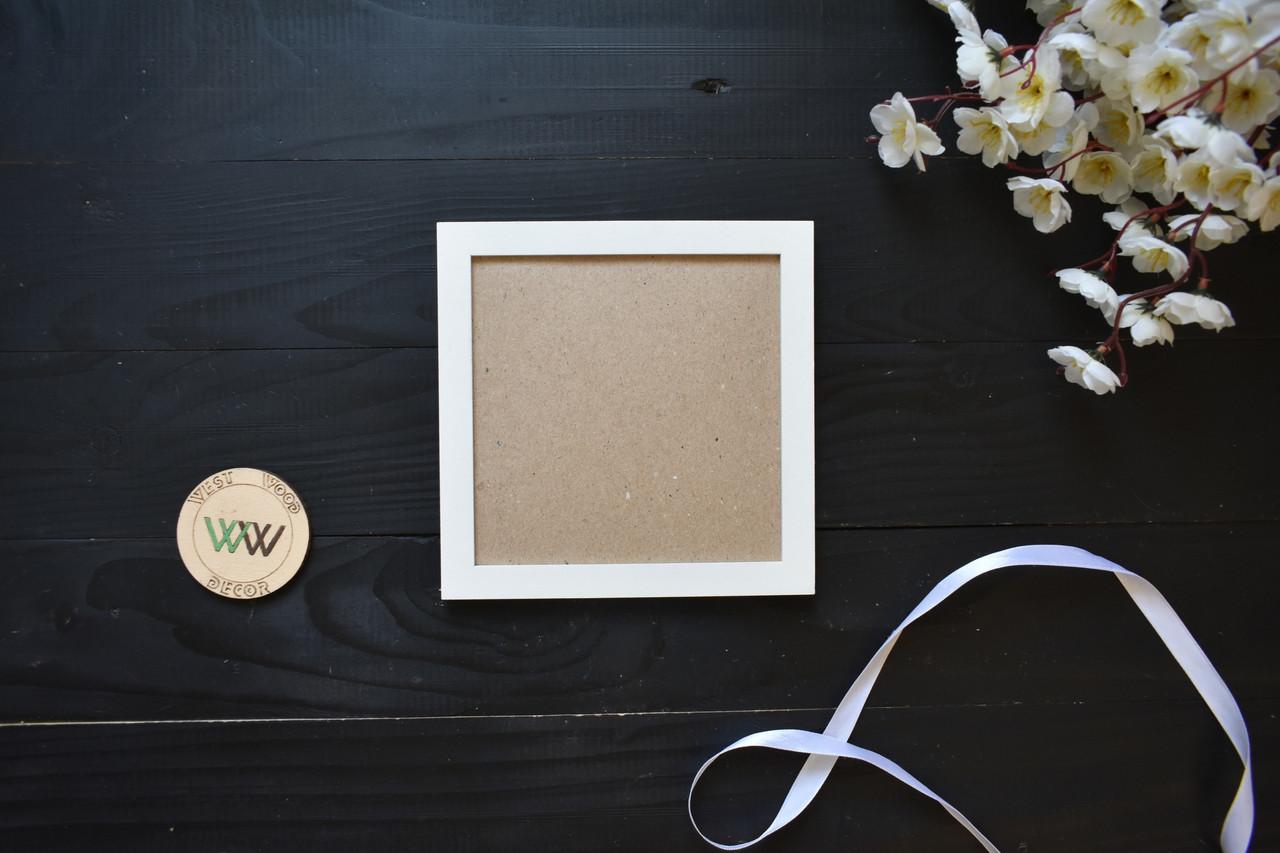 Квадратная фоторамка из дерева 10х10 для составной настенной композиции, для панно, декора стен (любой цвет)