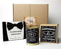 """Подарочный набор мужской """"Сегодня тебе можно все"""": шоколад, консервированные носки и печенье с предсказаниями"""