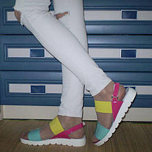 Разноцветные стильные босоножки. Украина!