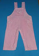 Комбинезон ромпер детский для девочки розовый р.86