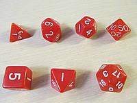 Дайсы (кубики для игр) - комплект 7 шт.