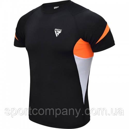 Рашгард с коротким рукавом RDX Lycra Orange M