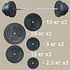 Лава з стійками під штангу (до 250 кг) + Штанга 115 кг, фото 6