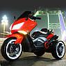 Дитячий триколісний електро-мотоцикл від 3 до 8 років T-7223 червоний, фото 2