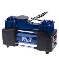 """Компрессор """"ViTOL"""" К-72 150psi/25Amp/90л/2 цилиндра/шланг 5,0м с дефлятором/клеммы (К-72)"""