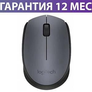 Бездротова мишка Logitech M170, сіра/чорна, USB, 1000 dpi, 3 кнопки, 1xAA, миша для ноутбука логитек