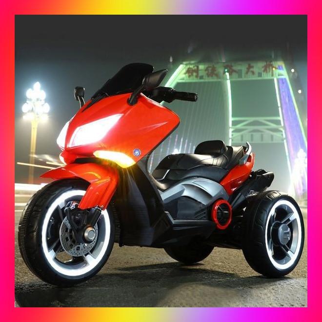 Дитячий триколісний електро-мотоцикл від 3 до 8 років T-7223 червоний