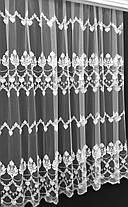 """Тюль вышивка """"Нарни"""", Белая (Высота до 310см), фото 2"""
