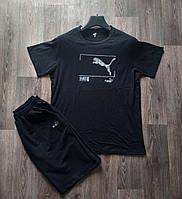 Комплект мужской  футболка и шорты Puma черная 02