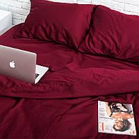 Комплект постельного белья Хлопковые Традиции Полуторный 155x215 Бордовый SE02полуторный, КОД: 740724