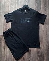 Комплект мужской  футболка и шорты UFS черный