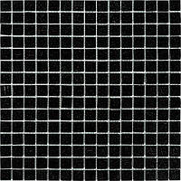 Мозаика черная стекло на сетке В50-397076